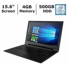 "2017 Lenovo V110 15.6"" HD Business High Performance Premium Laptop PC, Intel Core i3-6100U 2.3GHz, 4GB RAM, 500GB HDD, DVD Writer, WIFI, Bluetooth, Webcam, HDMI, Intel HD 520 Graphics, Windows 10 Pro - laptopsandaccessories"
