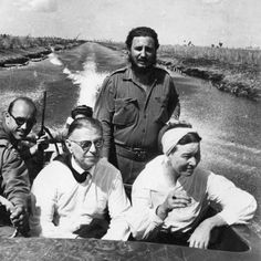 Жан-Поль Сартр и Симона Бовуар в гостях у Фиделя Кастро.
