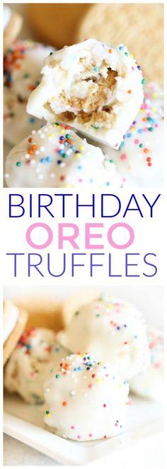 Birthday Cake Oreo Truffles Recipe Birthday cake flavors Cake
