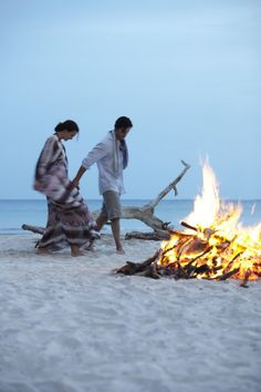 I remember bon fires on the beach  :-)