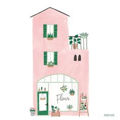line art illustrator Art And Illustration, Building Illustration, Pattern Illustration, Illustration Pictures, Tanz Poster, House Drawing, Painting Inspiration, Watercolor Art, Illustrators