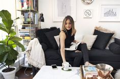 Name: Sarah Ashley Schiear Location: Williamsburg — Brooklyn, NY Size: 635 square feet Years Lived In: since May 2015; Rented Though the physical size of her apartment may be small, Sarah has created a multi-functional space where she lives, works and entertains. Sarah is a chef as well as the founder of Salt House, a New York-based lifestyle and events studio. Her experience in the food industry has heavily influenced her desire to entertain and bring people together around food. A passion…