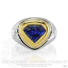 3.97ct Blue Sapphire Ring Image 2
