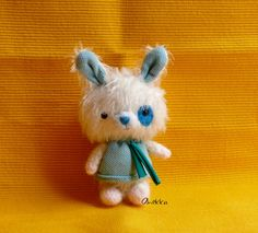 Little bunny plush Bunny mohair plush toy  mohair by anekkashop,