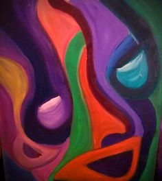 """Abstract oil painting by Deidre Goddard titled """"Face of Carnival"""" #abstract #art #oil #paintings"""
