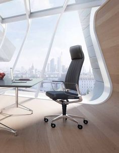 Interstuhl Vintage High Back Leather Office Chair