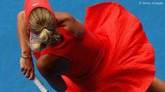 Caroline Wozniacki. Love her dress