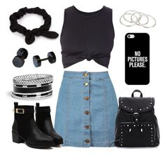 Untitled #12 by heyitsmakara on Polyvore featuring Boohoo, GUESS, Vanessa Mooney, Casetify and NLY Accessories
