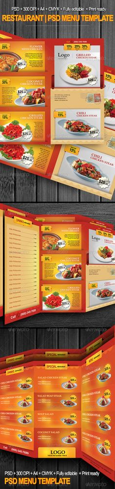 Restaurant Menu Flyer Food menu template, Menu templates and - food menu template