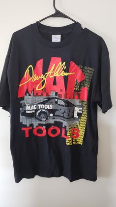 ecdb576c Vintage Deadstock 90's Davey Allison Mac Tools NASCAR Two Sided Graphic  Shirt - Size XL Graphic