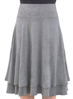 Double Layer Skirt Knee Length for Women. Kosher Casual - looks super soft but has a broken link! Modest Skirts, Modest Wear, Cute Skirts, Modest Outfits, Modest Fashion, Cute Dresses, Modest Clothing, Pretty Outfits, Beautiful Outfits