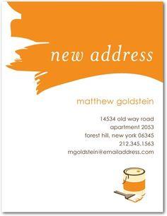 Moving Announcement Postcards House Paint - Front : Pumpkin