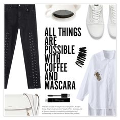 """""""B&W Street Fashion"""" by shambala-379 ❤ liked on Polyvore featuring Vans, DKNY, Christian Dior and Bobbi Brown Cosmetics"""