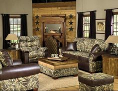 Realtree camo furniture! Love this! FB post from Southern Boyz Outdoors