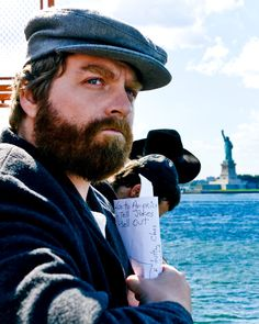 """zach galifianakis. """"go to america. tell jokes. sell out."""""""