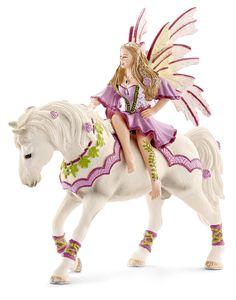 Schleich Bayala Feya. Or in my world Rosa riding on Rose