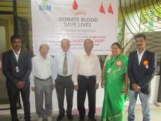 Some Snaps of Blood Donation Camp orgnised at ASM's IBMR Campus