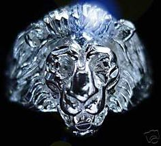 0525 Lion Ring Real Sterling silver Jewelry Detailed Sterling Silver 925 Jewelry