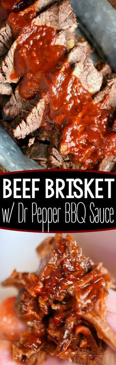 Your new favorite - Beef Brisket with Dr Pepper Barbecue Sauce! Feeding a crowd? Look no further for the perfect recipe to serve up from your grill! The Dr Pepper Barbecue Sauce is going to blow your mind! The perfect dinner recipe for your next BBQ or party!: