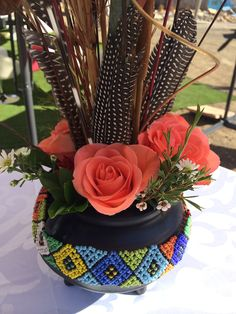 Centerpiece Decorations, Decoration Table, Wedding Decorations, Wedding Ideas, Wedding Inspiration, African Wedding Theme, African Theme, Zulu Traditional Wedding, Traditional Decor