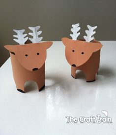 these adorable reindeer are made from toilet paper rolls