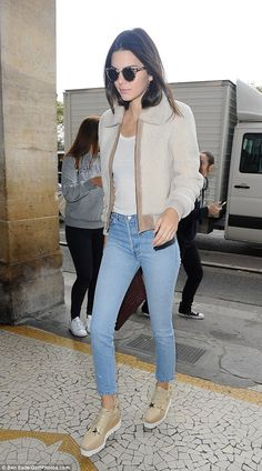I like these pair of Stella McCartney's stacked beige brogues emblazoned with Stars worn by Kendall Jenner