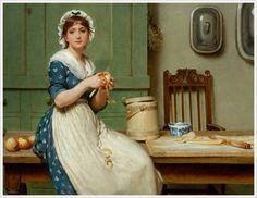 George Dunlop Leslie (British, 1835–1921) «Apple Dumplings»