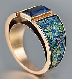 by kranichs enamel gorgeous hidalgo pastel thumb rings jewelers ring