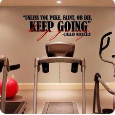 motivational fitness room