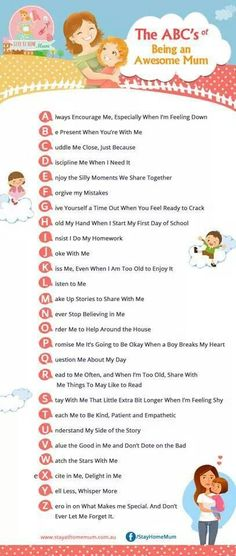 Abcs of being a great mom