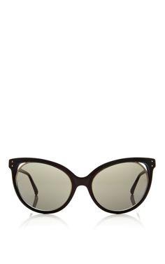 fc4404b4903 Black Acetate Sunglasses With Dark Grey Shade by Linda Farrow Sunglasses  Now Available on Moda Operandi
