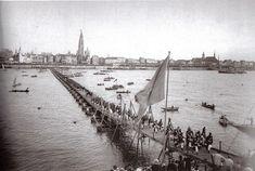 100 jaar bevrijding, gelegenheidsbrug over de Schelde, 1895