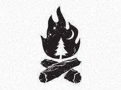 28 Ideas for tree illustration design inspiration negative space Camping Drawing, Camp Logo, Negative Space Logos, Stoff Design, Desenho Tattoo, Travel Logo, Logo Design Inspiration, Boy Scouts, Art Drawings
