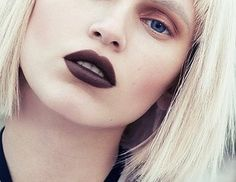 gold/brown smokey eye with dark berry lip ( a bit too dark )