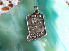Vintage Sterling Silver State Charm by AnotherWomansTreasur, $7.77
