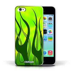 Designer Mobile Phone Case / Flame Paint Job Collection / Green/Lime #designer #case #cover #iphone #smartphone #fire #flames #paintjob