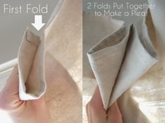 Lemons to Lovelys: Easy No Sew Drop Cloth Curtains WITH PLEATS! Drop cloth curtains are an inexpensive way to create window treatments that look like custom draperies but do not require a sewing machine! Canvas Curtains, No Sew Curtains, Short Curtains, Rod Pocket Curtains, White Curtains, Hanging Curtains, Drop Cloth Curtains Outdoor, Window Curtains, Roman Curtains