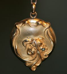 Antique Art Nouveau Locket | Flickr - Photo Sharing!