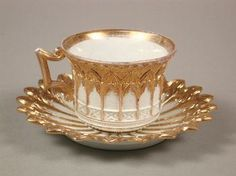 97. Fancy Meissen Style Cup & Saucer - Fall 2002 Fine Art Auction - ASPIRE AUCTIONS