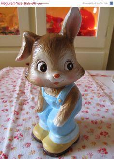 ON SALE Vintage Adorable Bunny / Made in Japan by VandyleeVintage, $17.00