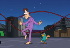 Perry the platypus and Doof playing Double Dutch Watch Phineas And Ferb, Phineas And Ferb Memes, Phineas Und Ferb, Milo Murphys Law, Le Castor, Ballora Fnaf, Perry The Platypus, Australia Animals, Unique Animals