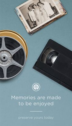 Preserve your recorded moments digitally. Send us your aging tapes, film, pictures, and audio recordings. In a few weeks, you'll receive digital copies with your originals, safely and simply.