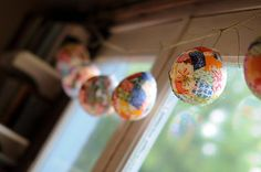 mod podge fabric lanterns - great for non-themed holiday decor