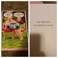 Now this is the card I got for my best friends bday. Fo sho