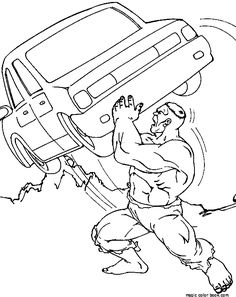 free printable hulk coloring pages for kids  pinterest