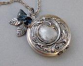 For my little sweeties, Option 3 |  Sapphire Maiden,Locket,Silver  Handmade jewelry by valleygirldesigns.