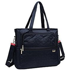 Baby Lovess Waterproof Baby Diaper Tote Bag Shoulder Bags with Changing Mat, Navy Blue