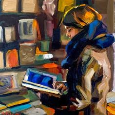 Lecture et art: Edward B. People Reading, Book People, Reading Art, Woman Reading, Painting For Kids, Figure Painting, Edward B Gordon, Books To Read For Women, Palette Knife Painting