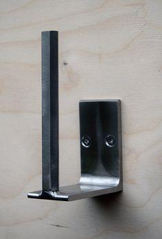 Toilet paper holder, Minimal, Modern, Stainless Steel , Minimal, Modern, sleek design, TIG welded by studioandolina on Etsy