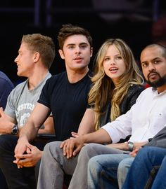 Pin for Later: Zac Efron and Halston Sage Have a Sweet Giggle Fest